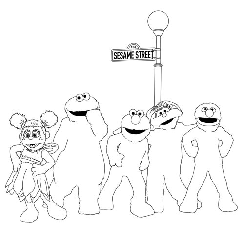 Sesame Street colouring page